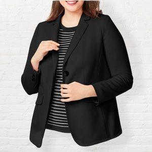 Talbots Aberdeen Cotton/Modal Black Blazer 18W